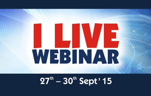 ILIVE Webinars - 27th Sept 2015 to 30th Sept 2015