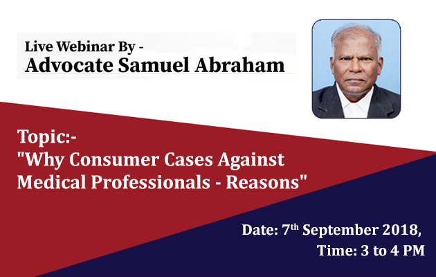 Why consumer cases against Medical Professionals - Reasons